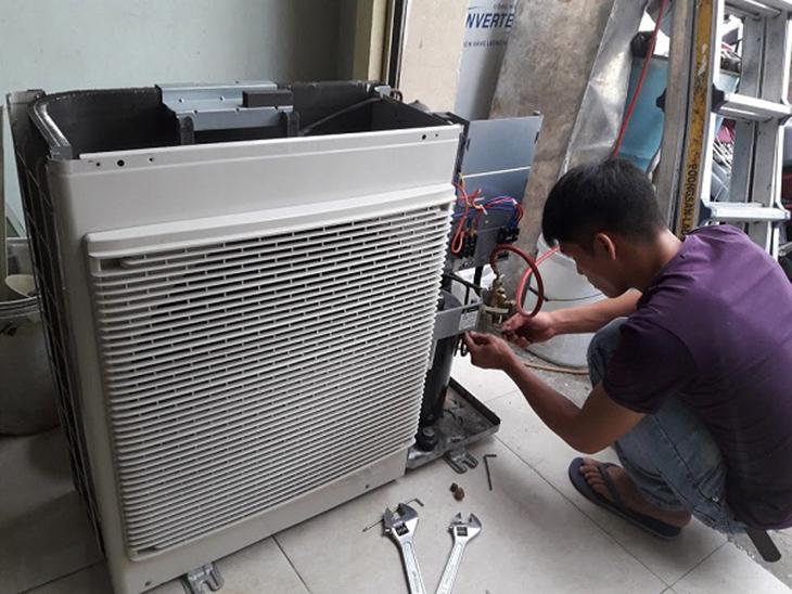 Bơm ga máy lạnh Bình Tân