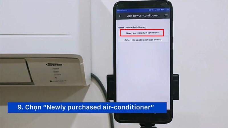 Kết nối máy lạnh Panasonic với smartphone
