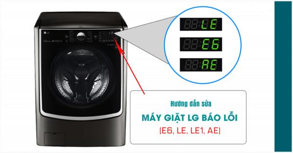 Cách sửa máy giặt LG báo lỗi AE