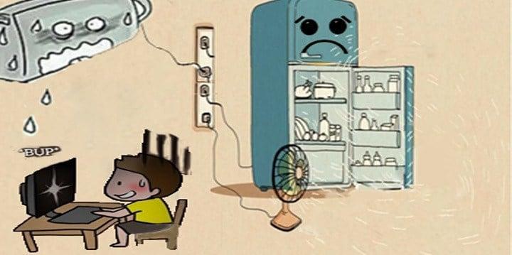 Xử lý máy lạnh không chạy do điện yếu